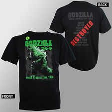Authentic GODZILLA World Destruction Tour T-Shirt Official S M L XL XXL 3XL NEW