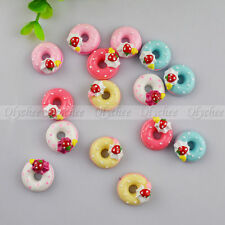 New DIY Strawberry Sweet Doughnut Cabochons Scrapbooking Ornament FlatBack Resin