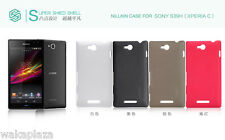 Nillkin Matte Hard Cover Case +LCD Screen Protector For Sony Xperia C C2305 S39h