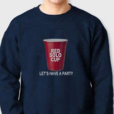 RED SOLO CUP Lets Party T-shirt funny Drinking College Crew Neck Sweatshirt