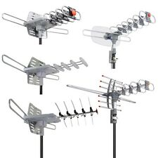 150 Miles TV Antenna HDTV UHF Digital Amplified Outdoor Remote 360d Rotor Option