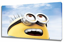 Wall Art Canvas Picture Print of Minion Framed Ready to Hang