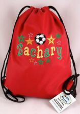 PERSONALISED KIDS FOOTBALL STAR LIVERPOOL COLOURS SWIM/SPORTS  BAG & TOWEL SET