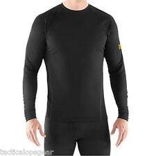 New Under Armour Men's ColdGear Base 1.0 Fitted Thermal Crew Shirt Black 1239722