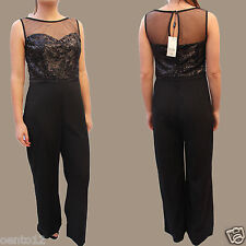 Stunning Next Black Embellished Sequin Jewelled Evening Party Cocktail Jumpsuit