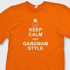 Keep Calm and Gangnam Style Funny dance T-shirt PSY parody Tee Shirt