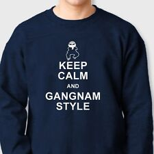 Keep Calm and Gangnam Style Funny dance T-shirt PSY parody Crew Neck Sweatshirt