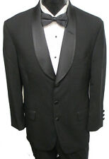 Black Chaps Ralph Lauren 3 Button Tuxedo Package Wedding Prom Formal Evening 48L