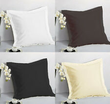 "1 Pair 2 Pieces Euro Pillow Shams 26"" x 26"" + 1.5"" Hem Solid Colors Machine Wash"