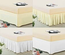 "14"" Drop Pleated Dust Ruffle Bed Skirt Box Spring Cover Machine Wash Dry"