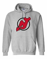 New Jersey Devils Logo Hooded Sweatshirt (Sizes Youth S - Adult  5XL)