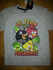 Superbe Tee shirt Angry Bird  manches courtes 4, 6, 8, 10 ans gris
