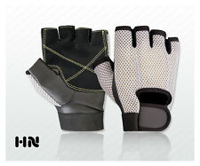 Fitness Gym Gloves Mesh Net Grip Palm Training Cycling Driving Motor Bike Sports