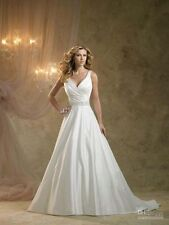 2014 New Fashion V-Neck Wedding Dress Bridal Gown Prom Deb Party Pageant Custom