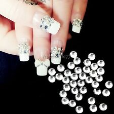 20000pcs Clear Crystal Flatback Rhinestones Nail Art Tips 1.5-5mm for UV Gel ItS
