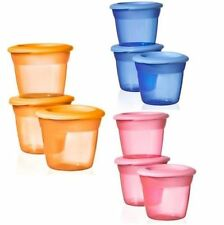 NEW TOMMEE TIPPEE FOOD POTS WITH LIDS X 3 BPA