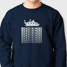 BOATS N HOES Funny Dad Step Brothers SNL Will Ferrell Crew Neck Sweatshirt