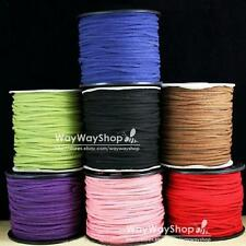 100 Yards (300 Feet) Faux Suede Cord Leather Lace 3mm Pick Color