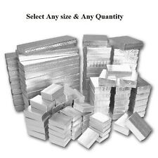 LOT OF 20~50~100 SILVER COTTON FILLED BOX MIXED SILVER JEWELRY BOXES GIFT BOX