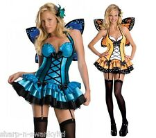 Ladies Sexy Fairy Butterfly Animal with Wings Nymph Fancy Dress Costume Outfit