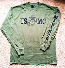 "Marine Corps PT Long Sleeve T-Shirt Size SMALL, MED, LARGE, XL, 2X ""USMC"""
