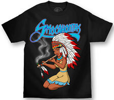 AUTHENTIC  MAFIOSO CLOTHING EMEMY OF THE STATE SMOCAHONTAS WEED PIPE T SHIRT