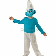SMURF WITH MASK DELUXE BOYS KIDS TV FILM LICENSED FANCY DRESS COSTUME 3-8 YEARS