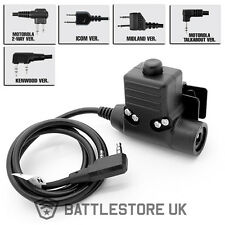Z Tactical U94 Style PTT Push To Talk Headset Adapter 1 - 2 Pin Radio Airsoft UK