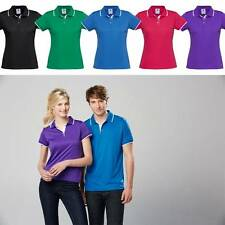 10x Ladies Miami Polo Shirt Top Golf Casual Work Contrast Size 8-24 Sport P402LS