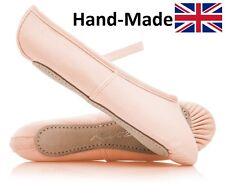 Pink Canvas Full Sole Ballet Shoes Childs & Adults All Sizes By Katz Dancewear