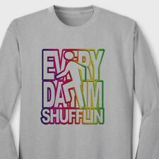Everyday Im Shufflin Electronic Rock T-shirt LMFAO Party Anthem Long Sleeve Tee