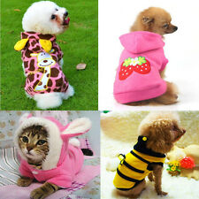 Pet Puppy Dog Cat Hoodie Clothes Winter Warm Coat Rabbit Soft Costume Apparel