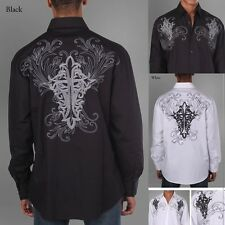 Men's 100% Cotton Fashion Casual Dress Shirt With Embroidered Design