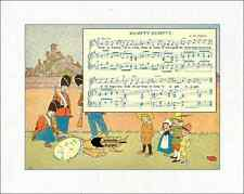 "Mother Goose Quilt Block Songs reproduced from 1915 book 100% cotton 8"" x 10"""