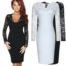 Women's Lace Dresses Tunic Sexy V Neck Slim Cocktail Party Dress