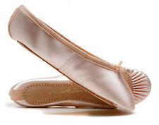 Pink Satin Full Sole Ballet Shoes Childs & Adults All Sizes By Katz Dancewear