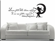 WALL STICKERS STICKER ADESIVI MURALI ADESIVO FRASI WILLIAM SHAKESPEARE WS0938