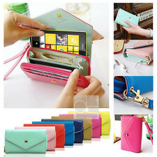 Crown Wristlet Leather Wallet Case Cover Purse Card Slot For Nokia Lumia 520 525