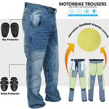 Motorbike Motorcycle Trousers Jeans Reinforced With Aramid Protection Lining FB