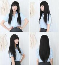 New Fashion Womens Girl Straight Long Flowing Hair Sexy Full Wigs Cosplay Party