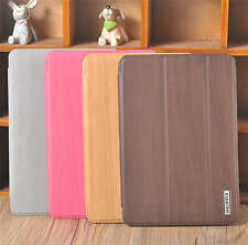 New REMAX Wood Pattern Series PU Leather Smart Case Cover For Apple iPad mini 2