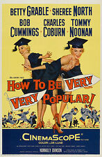 """""""HOW TO BE VERY VERY POPULAR"""" BETTY GRABLE   Retro Movie Poster A1A2A3A4Sizes"""