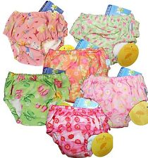 I Play Toddler Girl Washable Ultimate Swim Diaper UPF 50+ Size 4  4T 38-46 lbs