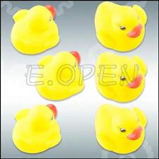 1/2/6/12/24pcs Baby Bathing Bath Tub Toys Rubber Race Squeaky Float Duck Yellow