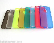 Light Thin Slim Plastic Hard Cover Bumper Case for iPhone 5 5S +Screen Protector