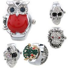 Fashion Multi-Style Creative Stainless Steel Finger Stretch Ring Diamond Watch