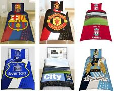 SINGLE BED OFFICIAL FOOTBALL CLUB DUVET COVER DESIGNS FREE FOOTBALL CUSHION GIFT