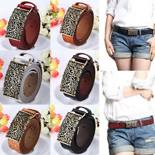 Retro Western real Women Genuine Leather Belts With Hollow Out Buckle HOT SALE