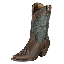 Ariat Ladies Daisy Western Boots - brown oiled rowdy
