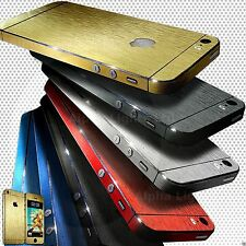 FOR APPLE iPhone 5S 5 4S Brushed Metal Edition Full Body Wrap Decal Sticker A9 B
